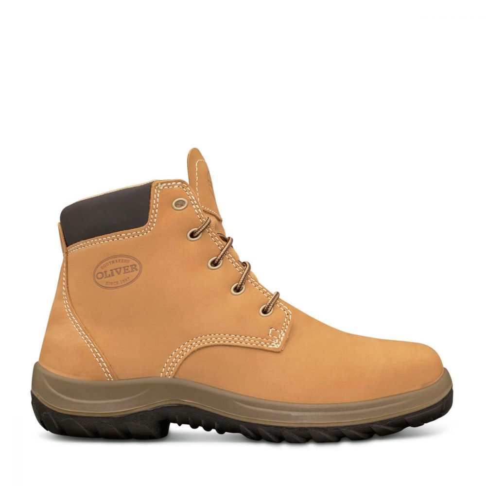 e8a1114a094 OLIVER SAFETY LACE UP BOOT WHEAT 34632 - The Workers Shop