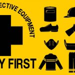 A PPE diagram sheet for protective wear