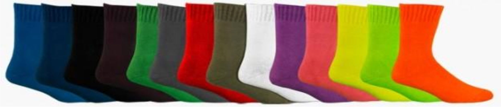 Colour chart of bamboo socks