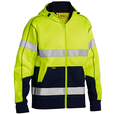 The popular Bisley Taped hi-vis hoodie sold at the workers shop