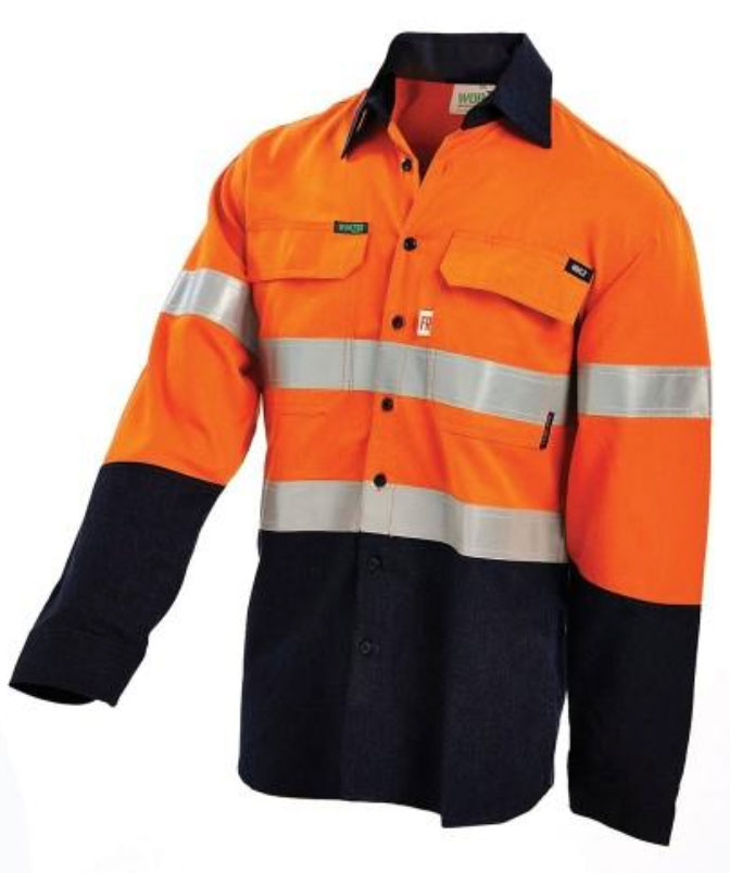 Flame retardant orange work top by bisley