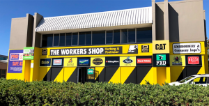 The Workers Shop in Osborne Park, Perth on a beautiful sunny day.