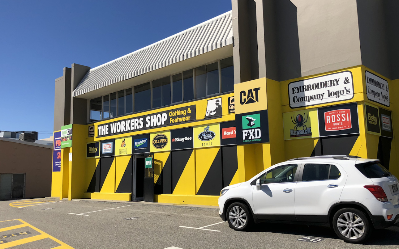 The front entrance to the workers shop Osborne Park
