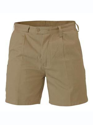 Bisley Belt Loop Shorts Khaki Bsh1007