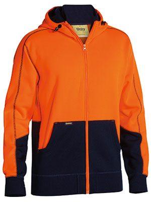 Bisley Hoodie Hi Vis Orange Bk6819