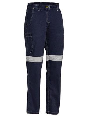 Bisley Ladies Taped Trouser Navy Bpl6431t