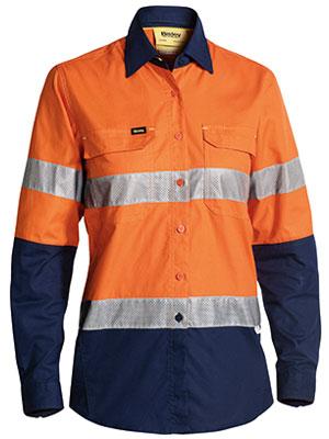 Bisley Ladies X Aiflow Taped Shirt Orange Bl6415t
