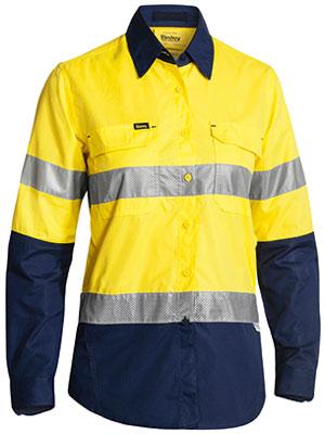 Bisley Ladies X Aiflow Taped Shirt Yellow Bl6415t