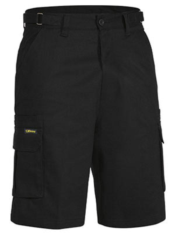 Bisley Mid Weight Tab Cargo Shorts Black BSHC1007