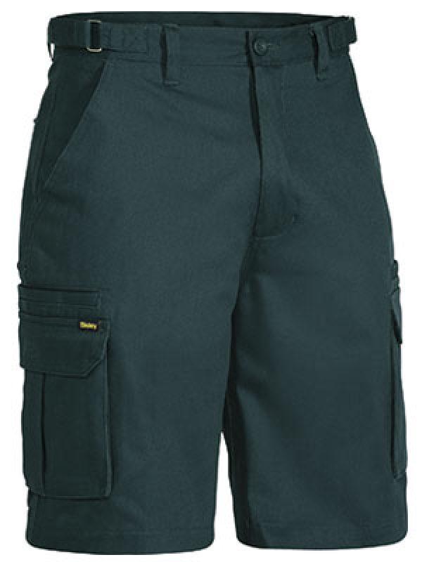 Bisley Mid Weight Tab Cargo Shorts Green BSHC1007