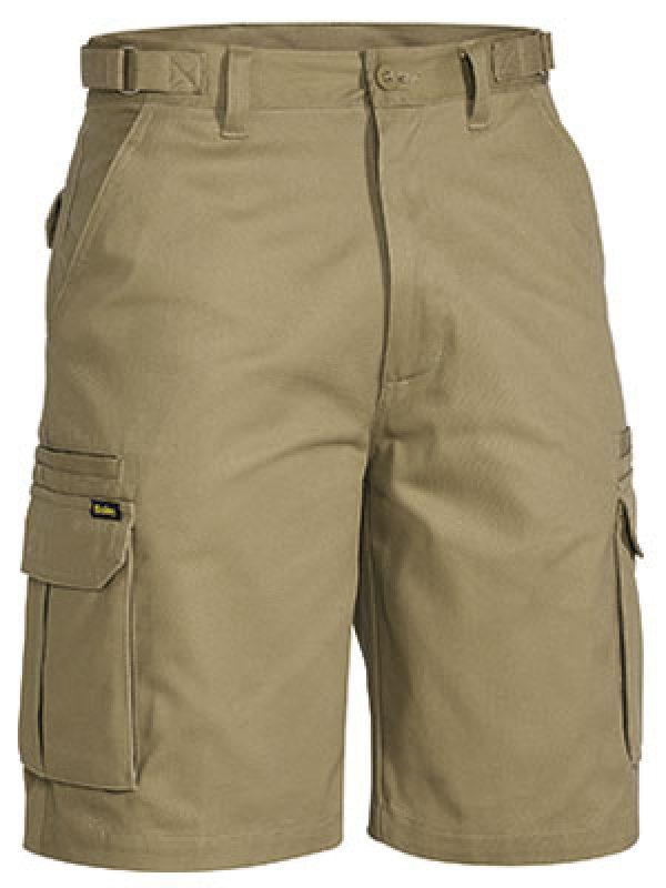 Bisley Mid Weight Tab Cargo Shorts Khaki BSHC1007