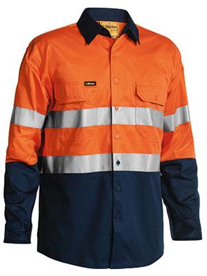 Bisley Taped L/s L/w Shirt Orange Bs6896