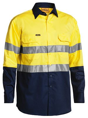 Bisley Taped L/s L/w Shirt Yellow Bs6896