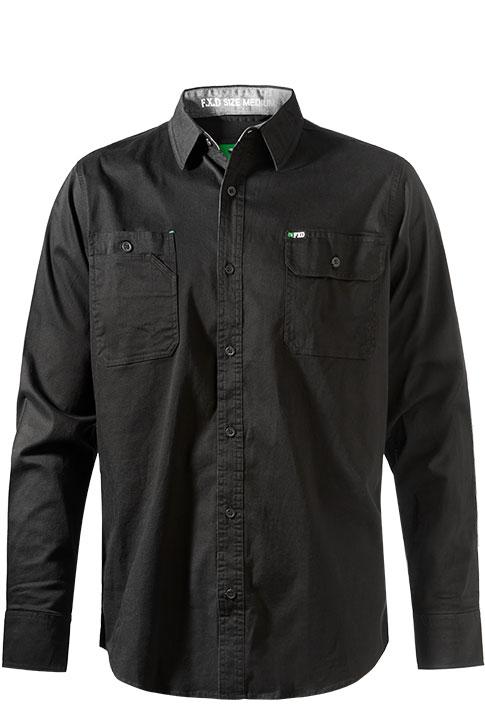 Fxd L/sl Stretch Shirt Lsh-1 Black