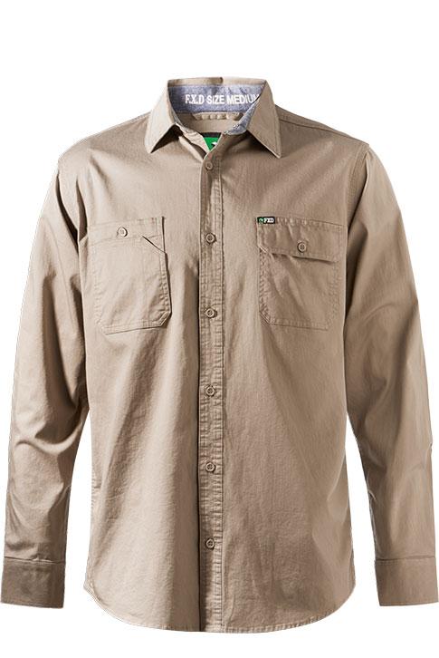 Fxd L/sl Stretch Shirt Lsh-1 Khaki