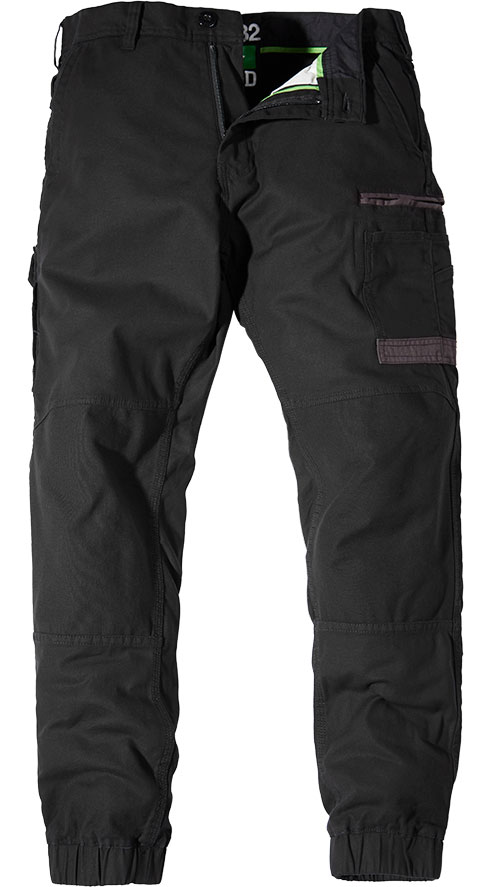 FXD Stretch Cuff Trousers Black WP-4