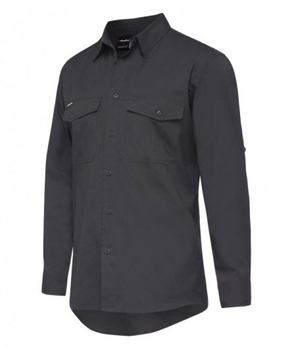 King Gee L/sl Workcool 2 Shirt Charcoal K14820