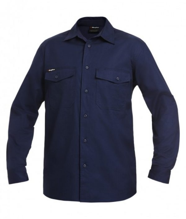 King Gee L/sl Workcool 2 Shirt Navy K14820