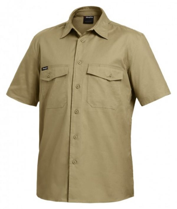 King Gee S/sl Workcool 2 Shirt Khaki K14825