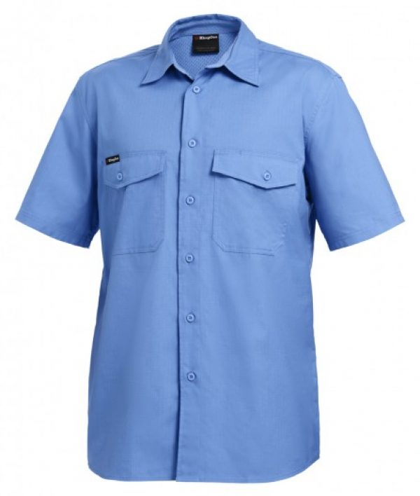 King Gee S/sl Workcool 2 Shirt Sky K14825