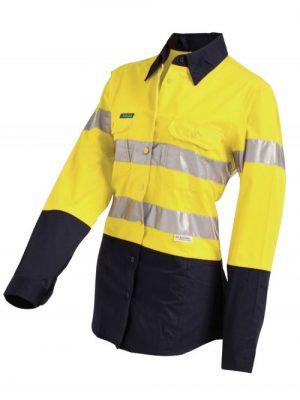 Workit Ladies L/sl L/w Taped Shirt Yellow 2012