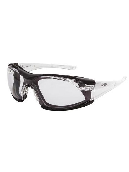 Bolle Rush Foam Back Safety Glasses Clear 1652301ps