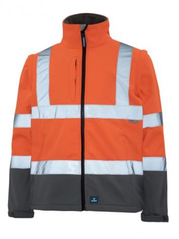 Rainbird Landy Hivis Taped Zip Off Sleeves 8430 orange / Charcoal