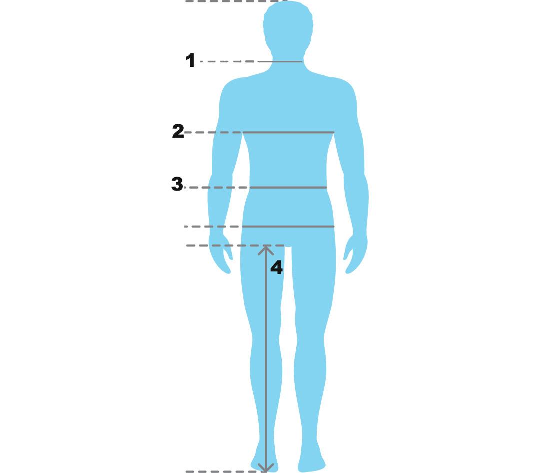 Size chart men