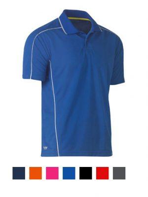 Bisley Cool Mesh Polo Shirt BK1426 Royal Blue with Collar