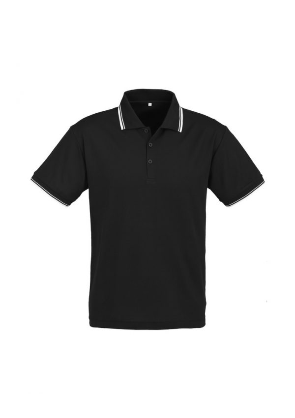 Fashion Biz Cambridge Polo Black and White