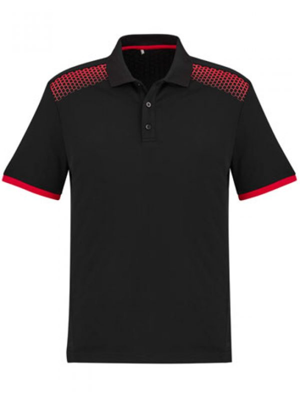 Fashion Biz Galaxy Polo Black and Red