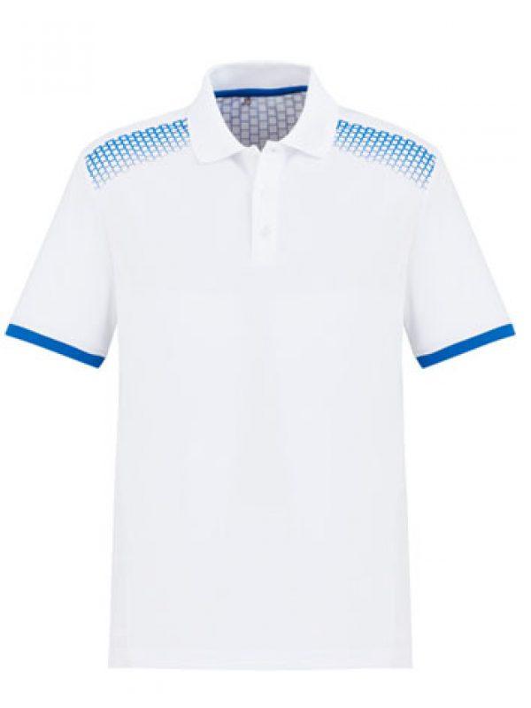 Fashion Biz Galaxy Polo White and Royal Blue