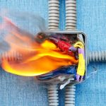 electrical fire in junction box